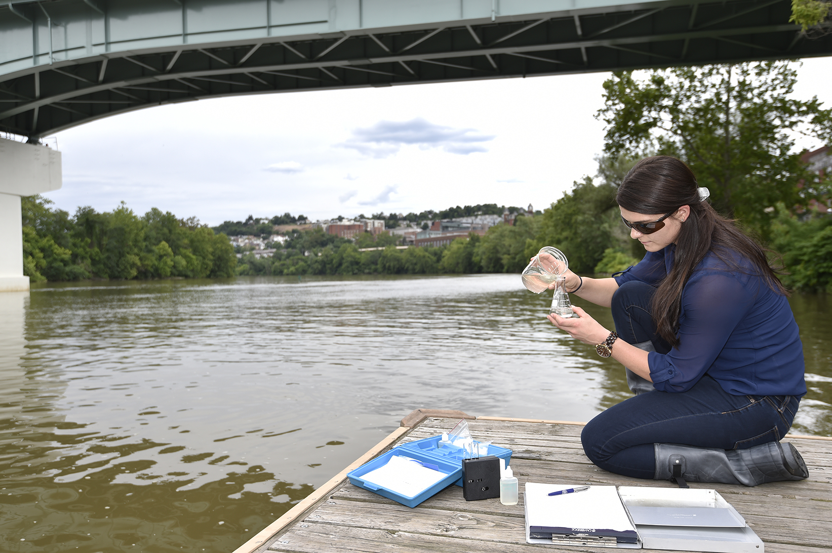 A coalition of West Virginia University researchers is working together to address the state's most pressing water issues through Bridge, a campus-wide science and technology policy, leadership and communications initiative. The impetus for the initiative is to translate the work of WVU researchers to policymakers as part of the University's land-grant mission.