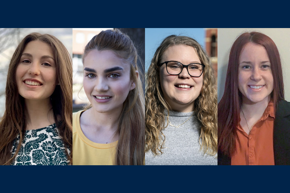 Four West Virginia University women - all students or alumna of the Eberly College of Arts and Sciences - have been awarded the Critical Language Scholarship from the U.S. Department of State, recognizing their commitment to language learning and personal growth. The awardees will participate in fully-funded virtual intensive language and cultural immersion programs this summer.
